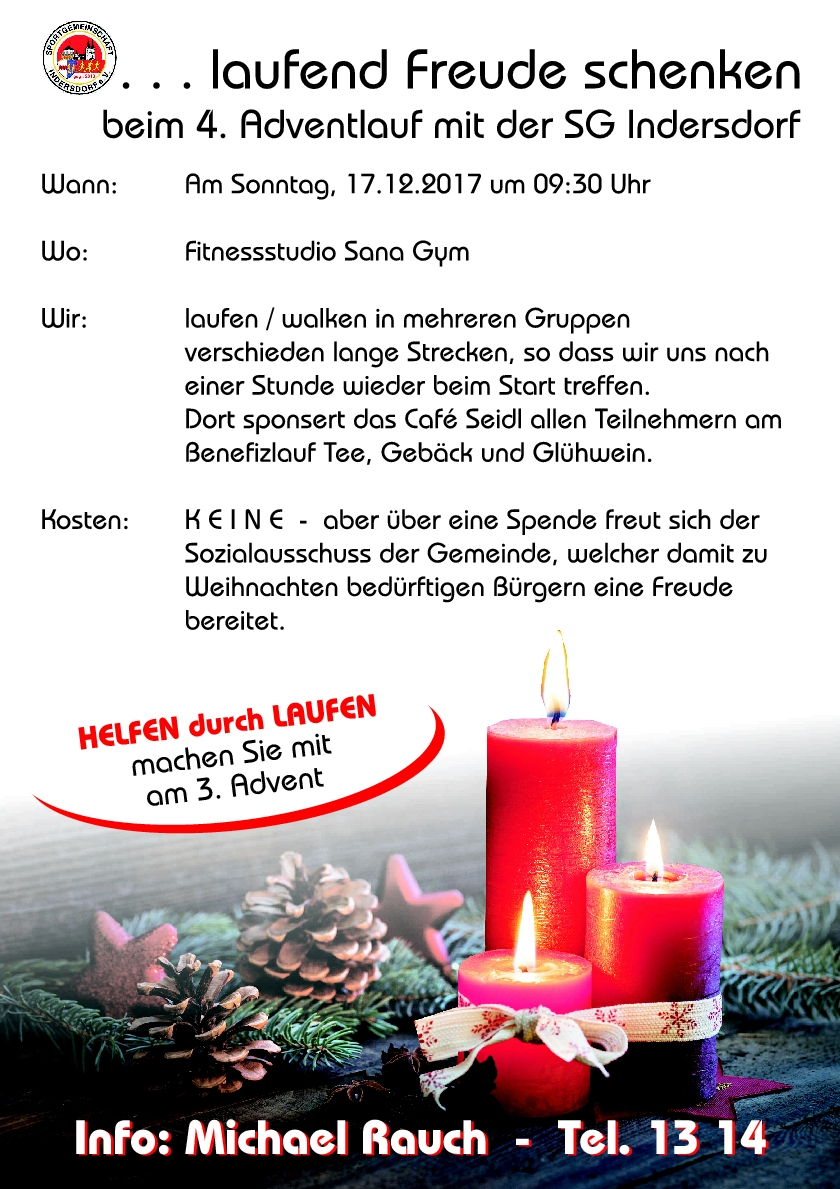 SG Indersdorf Adventlauf 2017